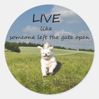 """Live Like Someone Left the Gate Open"" Sticker"