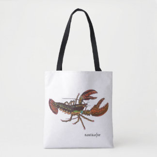 live lobster tote bag