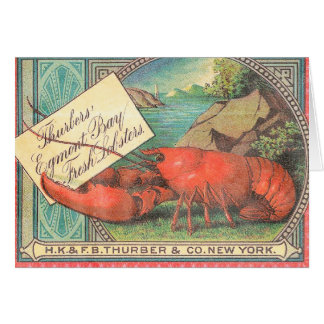 Live Lobster - Vintage Food Crate Label Card