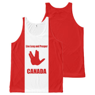 Live Long Canada All-Over All-Over Print Tank Top