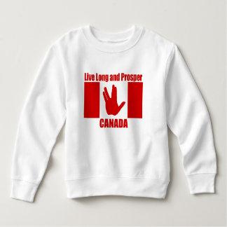 Live Long Canada Toddler Fleece Sweatshirt