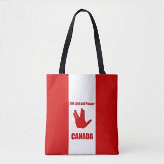 Live Long Canada Tote Bag