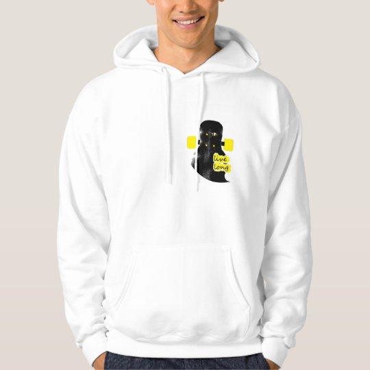 live long the longboard hoodie