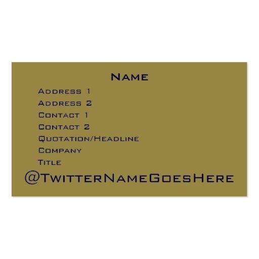 Live Long & Twitter Business Card