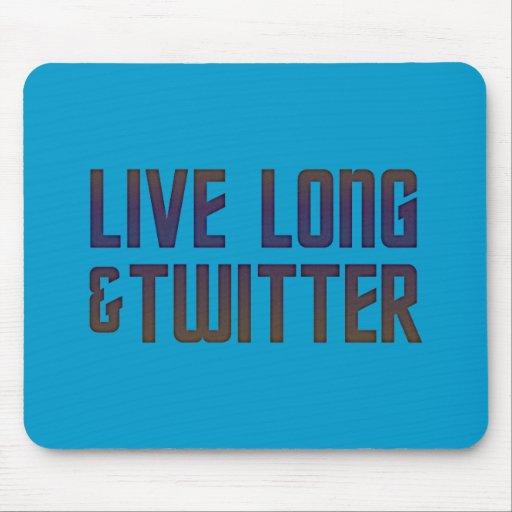 Live Long & Twitter Text Mouse Mats