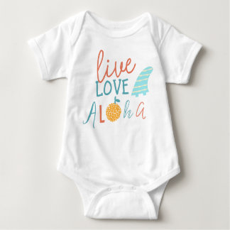 Live, love, aloha baby bodysuit