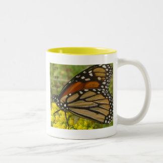 Live Love and Laugh butterfly mug
