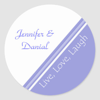 Live, Love, and Laugh Wedding Envelope Seal Round Sticker