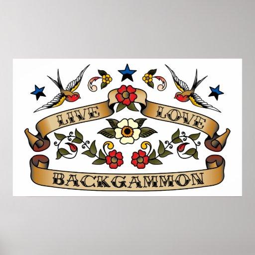 Live Love Backgammon Posters