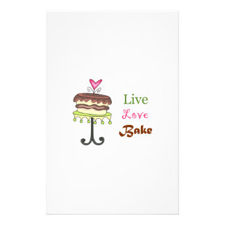 LIVE LOVE BAKE STATIONERY