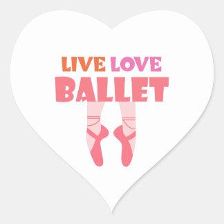 LIVE LOVE BALLET HEART STICKER