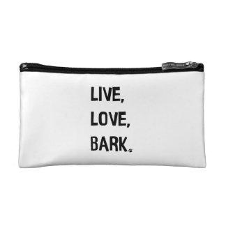 Live, Love, Bark Cosmetic Bag