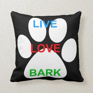 LIVE LOVE BARK - Pillow Throw Cushions