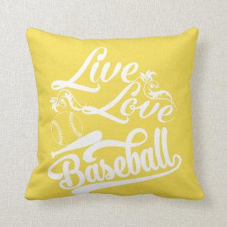LIVE - LOVE - BASEBALL CUSHION
