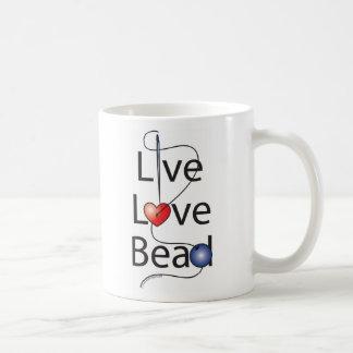 Live Love Bead Basic White Mug