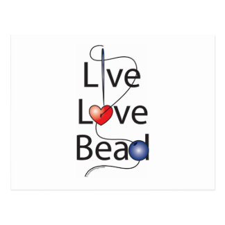 Live Love Bead Postcard