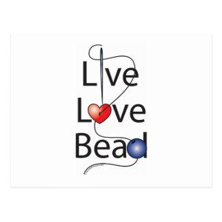 Live Love Bead Postcard