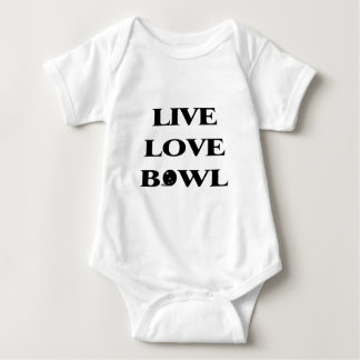 Live Love Bowl Baby Bodysuit