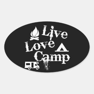 Live, Love, Camp Oval Sticker