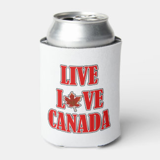 Live Love Canada Canada Day Beverage Can Cooler