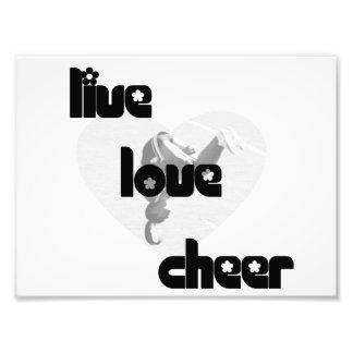 Live Love Cheer Photo Print