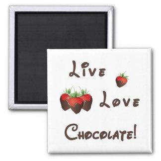 Live Love Chocolate Refrigerator Magnets