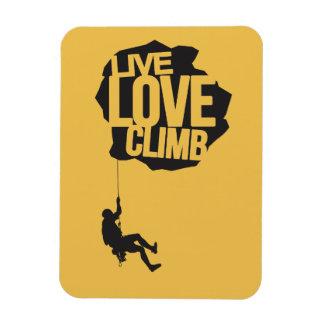 Live Love Climb | Climbing Rectangular Photo Magnet