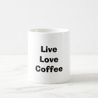 Live Love Coffee Basic White Mug