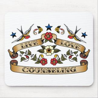 Live Love Counseling Mouse Mat