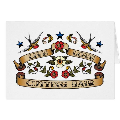 Live Love Cutting Hair Card