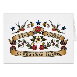Live Love Cutting Hair Greeting Card