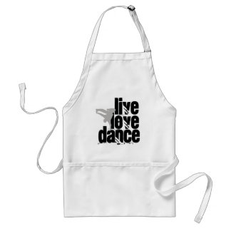 Live, Love, Dance Adult Apron