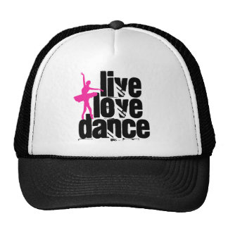 Live, Love, Dance Ballerina Trucker Hat
