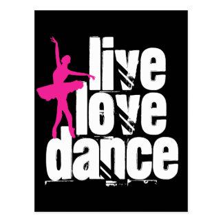 Live, Love, Dance Ballerina Postcard