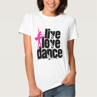 Live, Love, Dance Ballerina Shirts