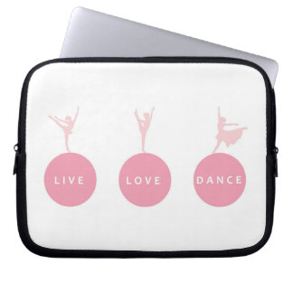 Live Love Dance Ballerinas - Pink - Computer Sleeves