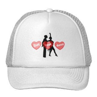 live love dance hats