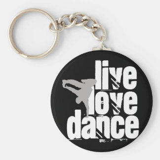 Live, Love, Dance Key Ring