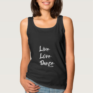 LIVE LOVE DANCE Modern Cool Black Tank Top