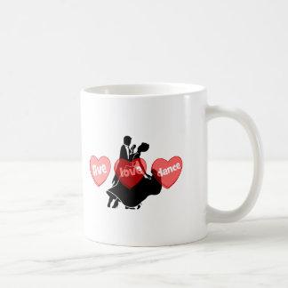 live love dance coffee mugs