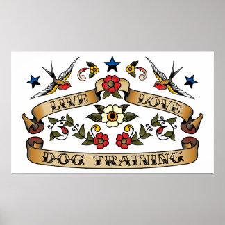 Live Love Dog Training Poster