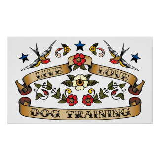 Live Love Dog Training Print