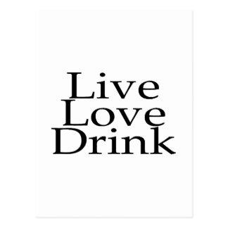 Live Love Drink Postcard