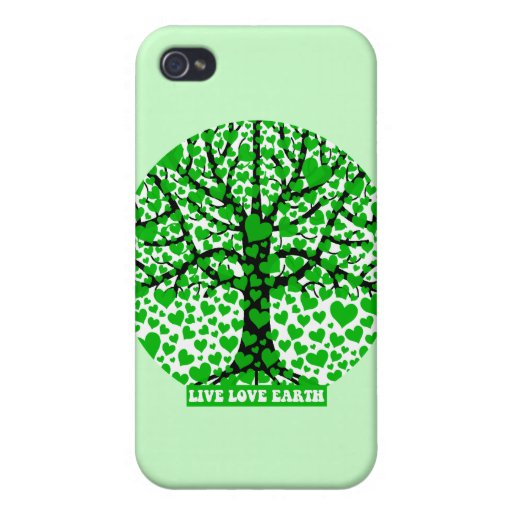 live love earth iPhone 4/4S cover