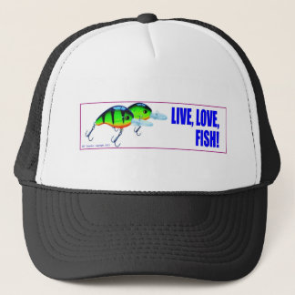 Live Love Fish Trucker Hat