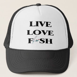 Live Love Fish Trucker Hat