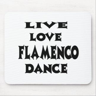 Live Love Flamenco. Mousepads