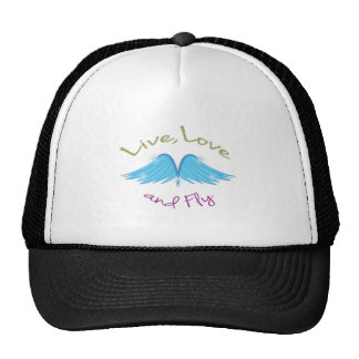 Live Love Fly Hats