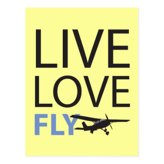 Live Love Fly Post Card