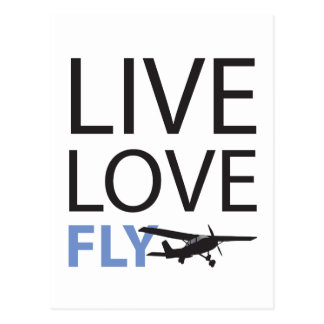 Live Love Fly Postcard